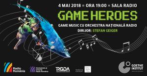Evenimentul cultural al saptamanii – concertul Game Heroes in interpretarea Orchestrei Nationale Radio